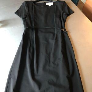 Brand new Hugo Boss A line black work dress